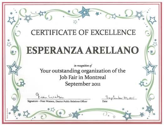 Esperanza Arellano Palais de congresMontreal Toasmasters Tradeshow